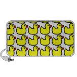 Modelo Ducky de goma amarillo brillante lindo Notebook Altavoz