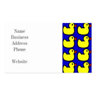 Modelo Ducky de goma amarillo brillante lindo en a Tarjetas Personales