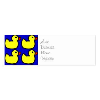 Modelo Ducky de goma amarillo brillante lindo en a Tarjetas De Visita