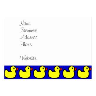 Modelo Ducky de goma amarillo brillante lindo en Tarjetas De Visita Grandes