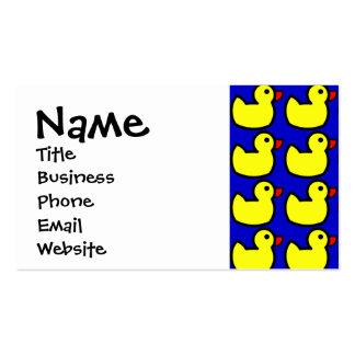 Modelo Ducky de goma amarillo brillante lindo en Tarjetas De Visita