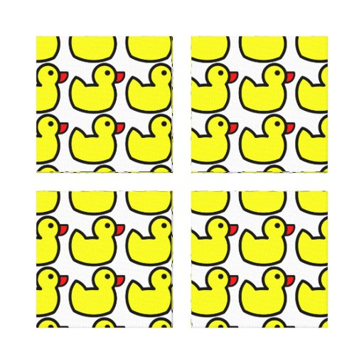 Modelo Ducky de goma amarillo brillante lindo Impresiones De Lienzo