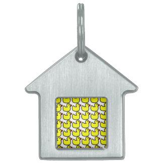 Modelo Ducky de goma amarillo brillante lindo Placa Mascota