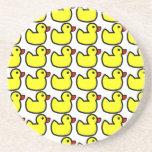 Modelo Ducky de goma amarillo brillante lindo Posavasos Para Bebidas