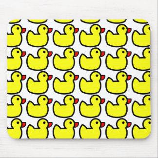 Modelo Ducky de goma amarillo brillante lindo Alfombrillas De Raton