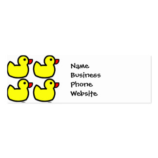Modelo Ducky de goma amarillo brillante lindo Tarjetas De Visita Mini