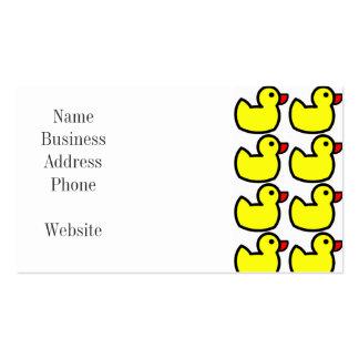 Modelo Ducky de goma amarillo brillante lindo Tarjetas De Visita
