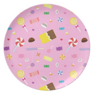 Modelo dulce colorido del caramelo para los chicas platos de comidas