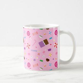 Modelo dulce colorido del caramelo para los chicas taza de café