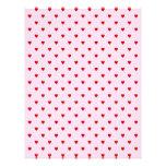 Modelo dulce de corazones rojos en rosa plantillas de membrete
