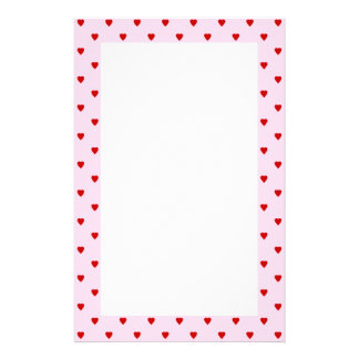 Modelo dulce de corazones rojos en rosa papelería de diseño