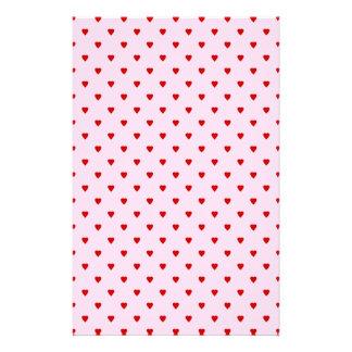 Modelo dulce de corazones rojos en rosa papeleria de diseño