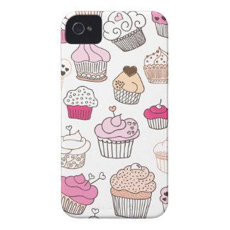 Modelo dulce de la torta del caramelo de la Case-Mate iPhone 4 protectores
