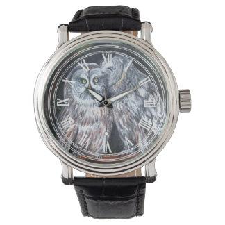 Modelo dulce del amor de los pares del búho relojes de pulsera