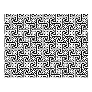 Modelo egipcio de la teja, blanco y negro postal