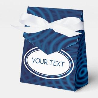 Modelo - el agua ondula azul marino + su texto cajas para regalos