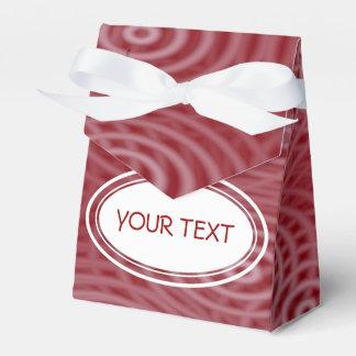 Modelo - el agua ondula rojo oscuro + su texto caja para regalos