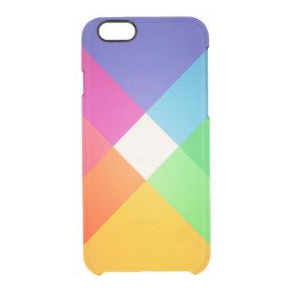 Modelo elegante abstracto geométrico colorido funda clearly™ deflector para iPhone 6 de uncommon