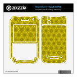 modelo elegante amarillo BlackBerry skins