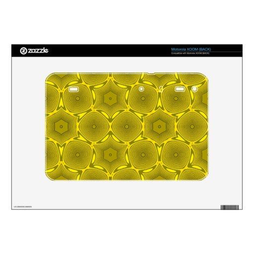 modelo elegante amarillo calcomanía para motorola XOOM