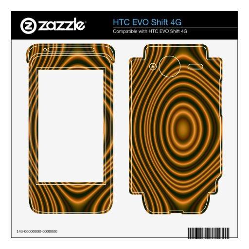 modelo elegante anaranjado HTC EVO shift 4G skin