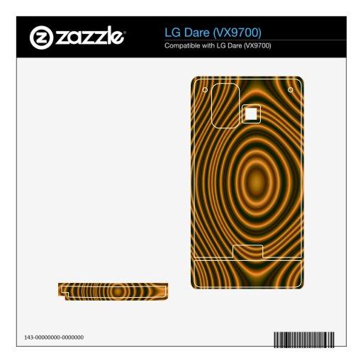 modelo elegante anaranjado calcomanía para el LG dare