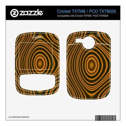 modelo elegante anaranjado cricket TXTM8 calcomanía