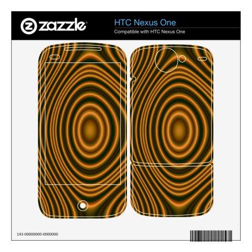 modelo elegante anaranjado calcomanías para HTC nexus one