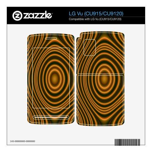 modelo elegante anaranjado skins para LG vu