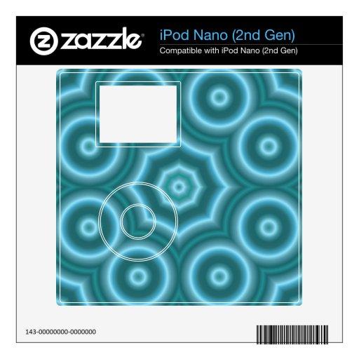 Modelo elegante azul del círculo iPod nano calcomanías