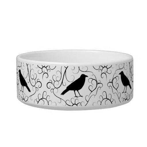 Modelo elegante blanco y negro del cuervo boles para gatos