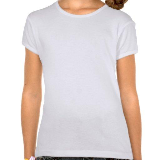 Modelo elegante blanco y negro del damasco camiseta