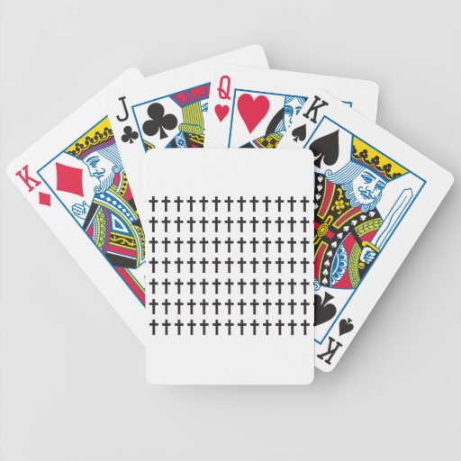 Modelo elegante cristiano baraja de cartas