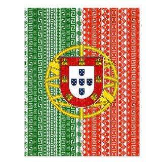 Modelo elegante de la bandera azteca fresca de Por Membrete Personalizado