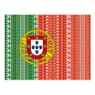 Modelo elegante de la bandera azteca fresca de postales