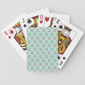 Modelo elegante de la guirnalda del navidad baraja de póquer