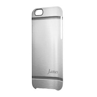 Modelo elegante de la mirada del acero inoxidable funda clearly™ deflector para iPhone 6 de uncommon