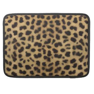 Modelo elegante de la piel del guepardo fundas para macbooks