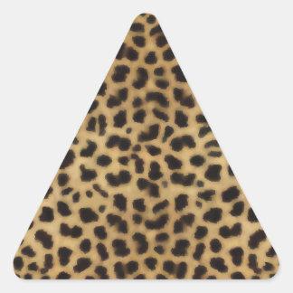 Modelo elegante de la piel del guepardo pegatina triangular