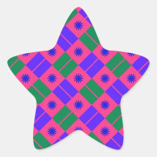 Modelo elegante de la teja pegatina en forma de estrella