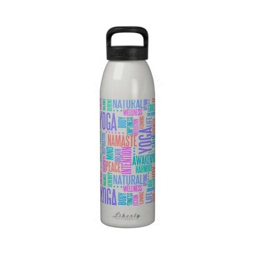 Modelo elegante de la yoga de la nube en colores p botellas de agua reutilizables