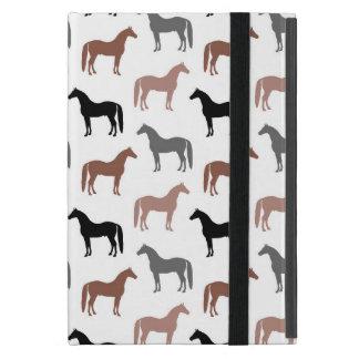Modelo elegante de los caballos Brown, negro y iPad Mini Cárcasa