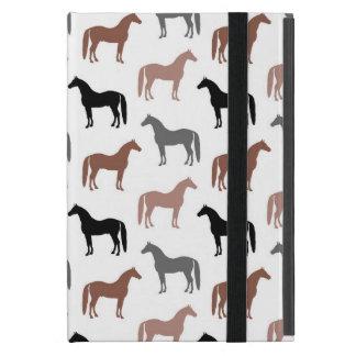 Modelo elegante de los caballos Brown, negro y iPad Mini Protector