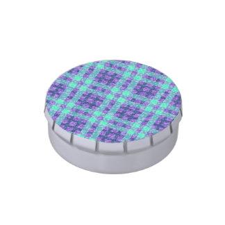 Modelo elegante de los controles de la púrpura y jarrones de caramelos