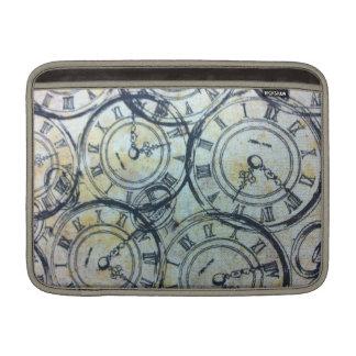 Modelo elegante de los relojes de bolsillo del vin fundas MacBook