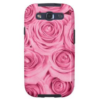 modelo elegante de los rosas rosados cerise por galaxy SIII cárcasas