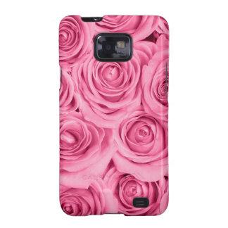 modelo elegante de los rosas rosados cerise por samsung galaxy s2 carcasas