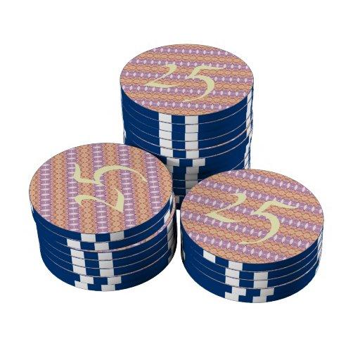 Modelo elegante de moda abstracto fichas de póquer
