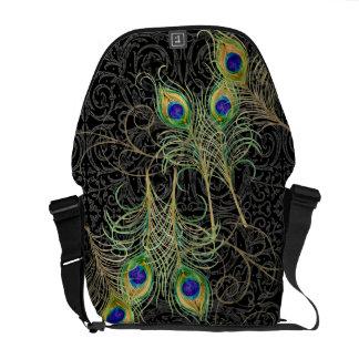 Modelo elegante de moda del damasco del remolino d bolsas de mensajería