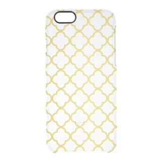 Modelo elegante de Quatrefoil del oro transparente Funda Clearly™ Deflector Para iPhone 6 De Uncommon
